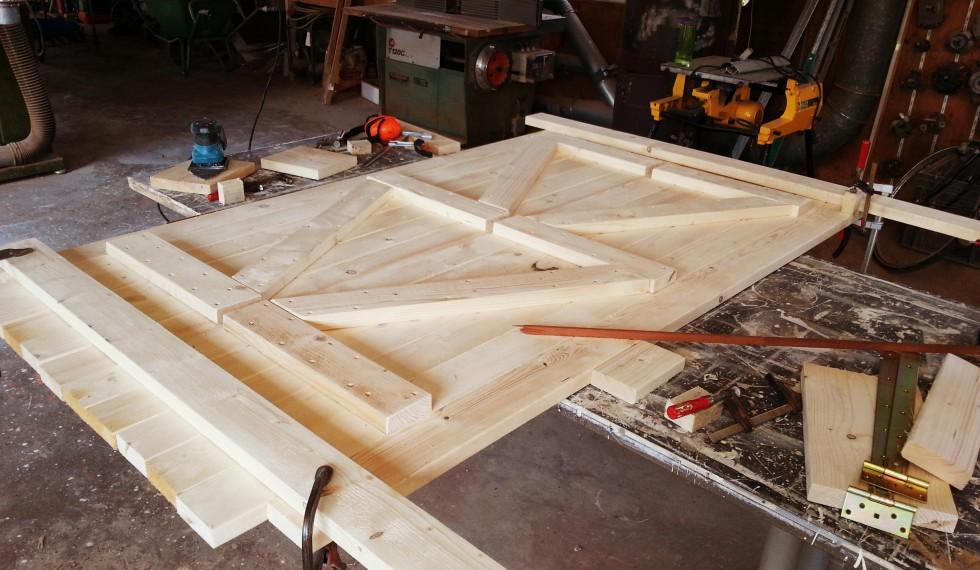 stapelbed en kast van nieuw steigerhout R04 002