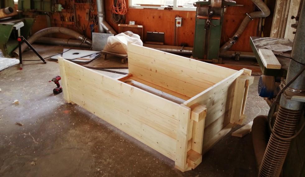 stapelbed en kast van nieuw steigerhout R04 003