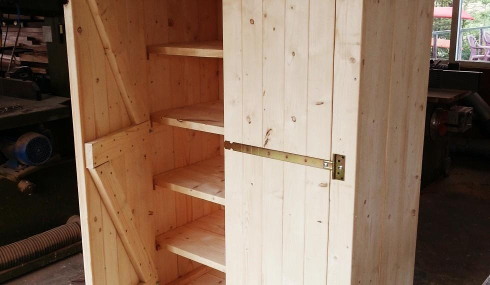 stapelbed en kast van nieuw steigerhout R04 005