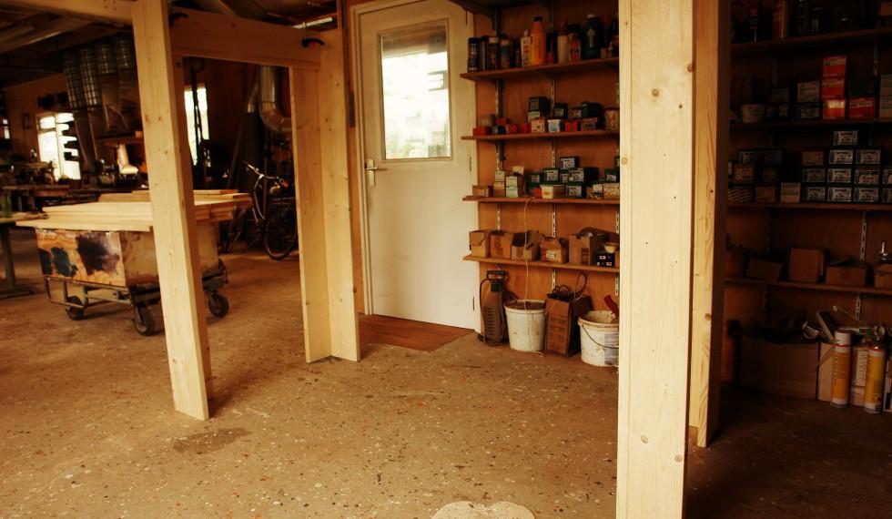 stapelbed en kast van nieuw steigerhout R04 006