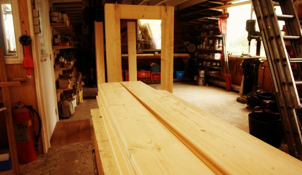 stapelbed en kast van nieuw steigerhout R04 007