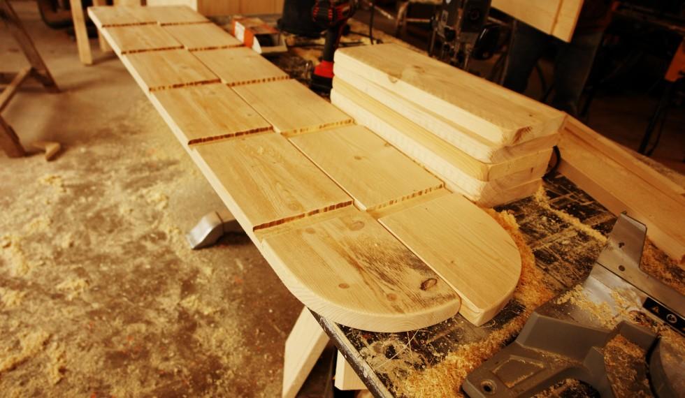 stapelbed en kast van nieuw steigerhout R04 008