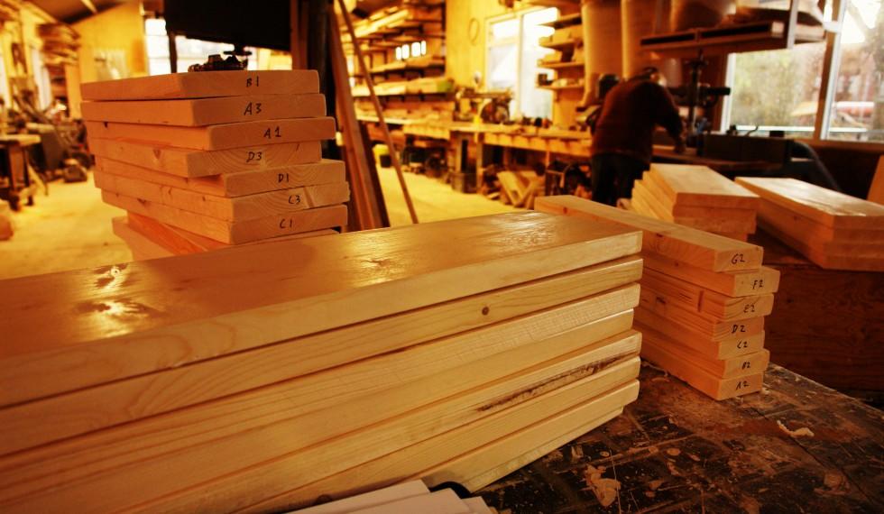 stapelbed en kast van nieuw steigerhout R04 010