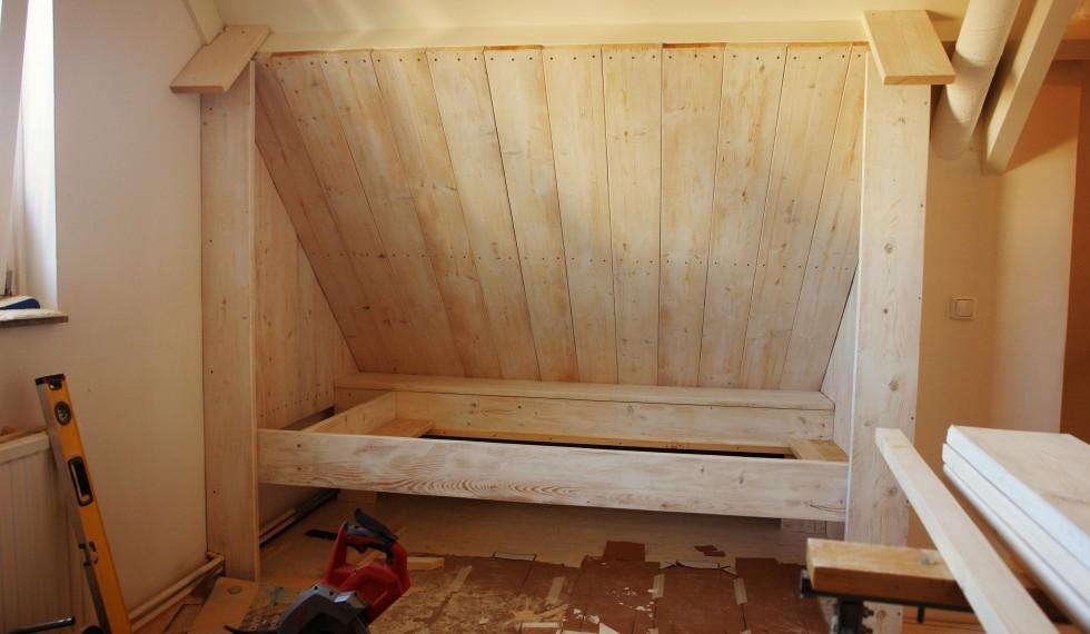 steigerhouten whitewash bedstee R04 002