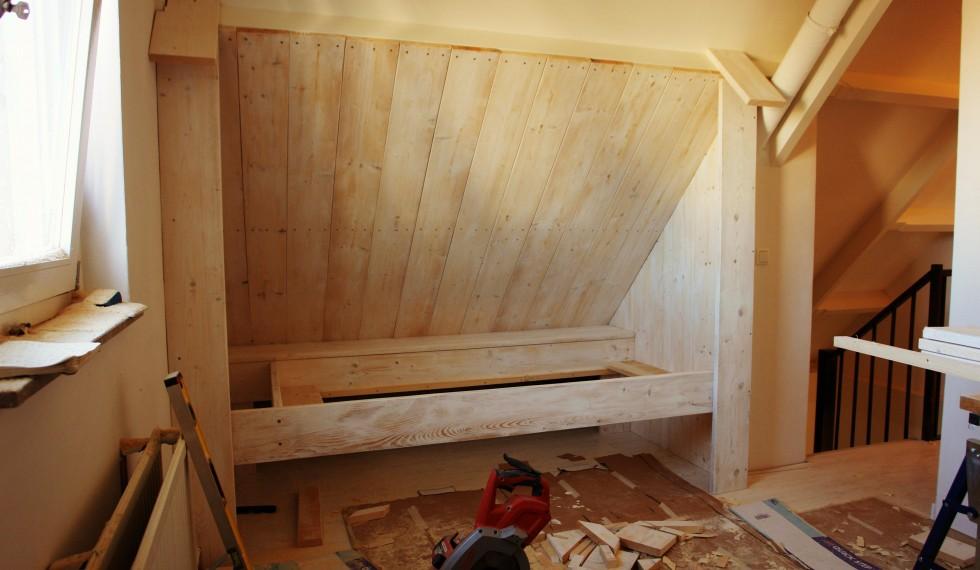 steigerhouten whitewash bedstee R04 003